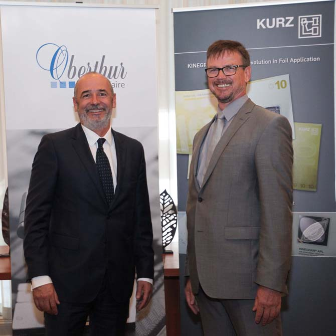 Oberthur Fiduciaire and Kurz  have announced their co-operation on window based security features